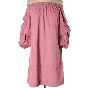 3/$40 NWT Mossimo Pink Off The Shoulder Dress XS
